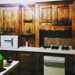 دکوراسیون کابینت تمام چوب ، کابینت روستیک , تلفیق کلاسیک و مدرن سنتی خانم غلامی
