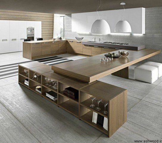 یک آشپزخانه لوکس , بزرگ و خلاقانه