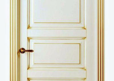 دیزاین و تزئینات کلاسیک بر روی درب های داخلی
