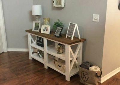 طراحی و ساخت میز چوبی , ایده و مدل های جالب میز چوبی سبک روستیک چوب کاج روسی