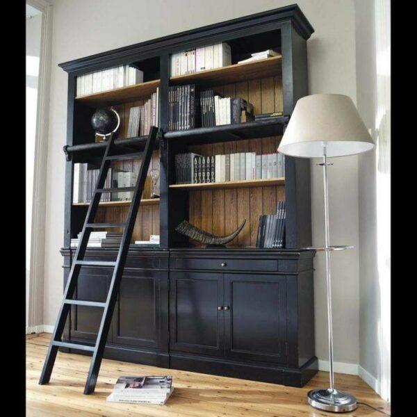کتابخانه چوبی کلاسیک، بوفه و ویترین, مدل کتابخانه خانگی دیواری کلاسیک ,