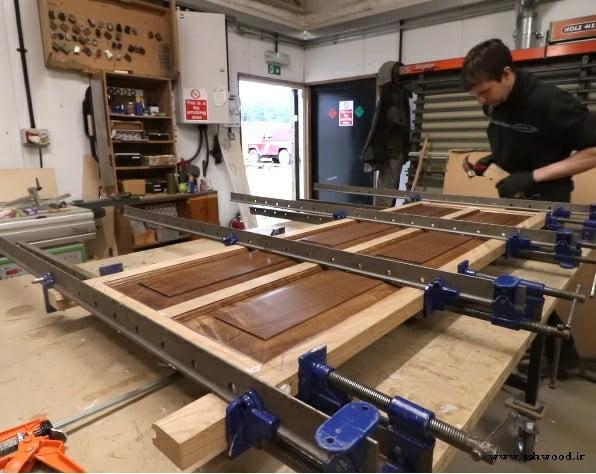 مدل های جالب و در حال ساخت از درب های قاب تونیک , درب تمام چوب