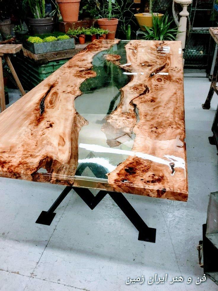 فروش میز اپوکسی، اسلب چوب گردو، ساخت میز اپوکسی، آموزش ساخت میز اپوکسی