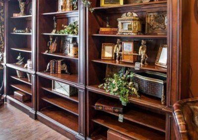 کتابخانه چوبی لوکس سبک کلاسیک , قفسه بندی و کمد تمام چوب