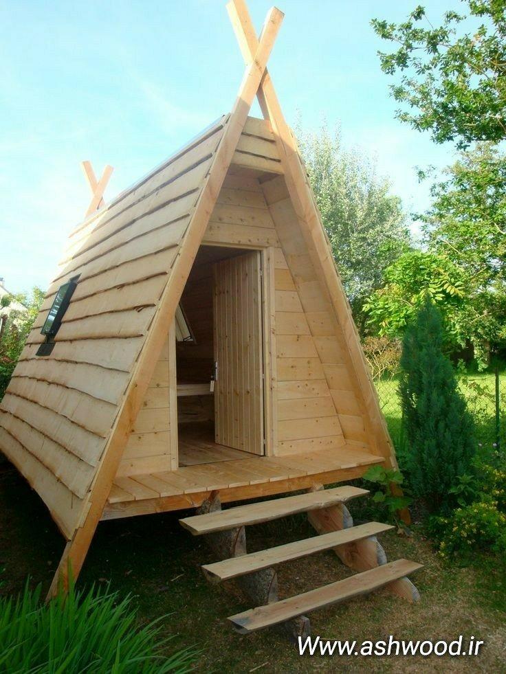 شله چوبی کلبه و خانه های چوبی