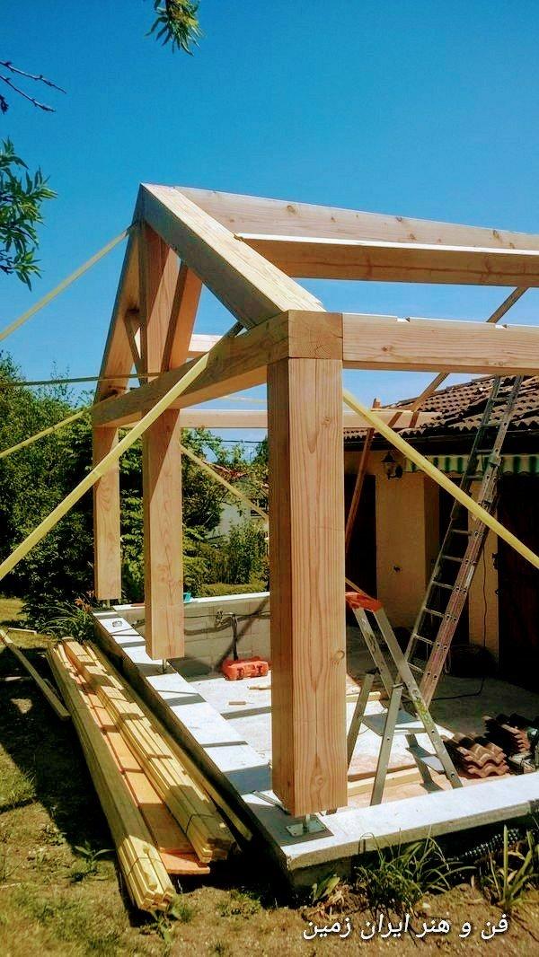 عکس خانه چوبی یک طبقه