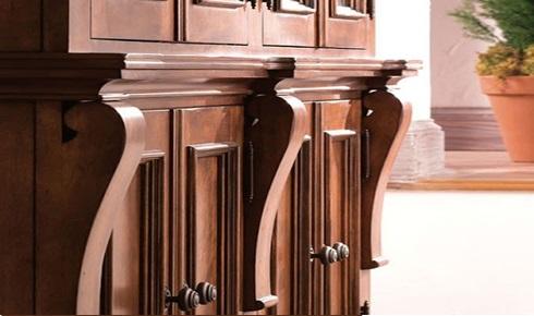کاربرد رنگ قهوه ای در کمدهای چوبی