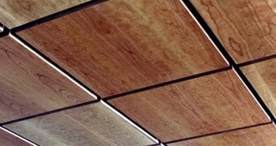 سقف کاذب چوبی کاشی وار