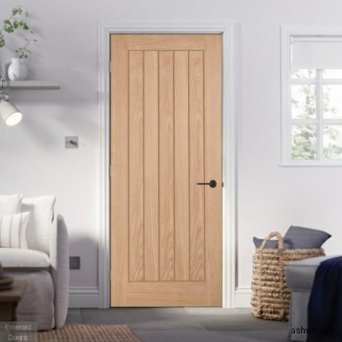 درب چوبی لبه دار