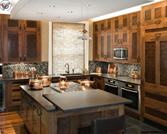 دکوراسیون آشپزخانه تمام چوب