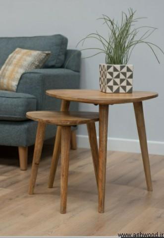 سه پایه چوبی , میز عسلی , میز جلو مبلی تمام چوب