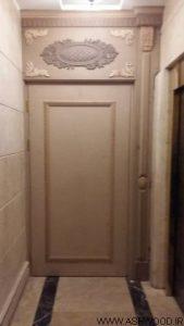 درب چوبی سبک کلاسیک پروژه پاسداران رستوران شاندیز