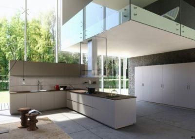 یک منظره فوق العاده برای آشپزخانه لوکس