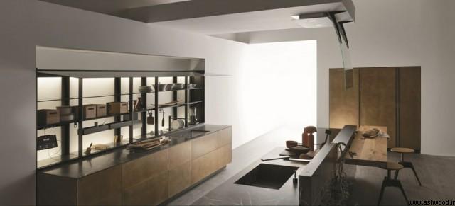 جزئیات در دکوراسیون لوکس چوبی آشپزخانه