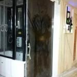 ساخت سونای خشک پیش ساخته باشگاه برترینهای شیراز با تابلو برق دیجیتال سوناسازان