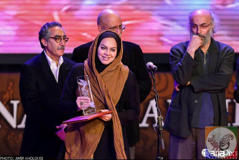 تصاویرداغ از هنرمندان در اختتامیه جشنواره فیلم فجر