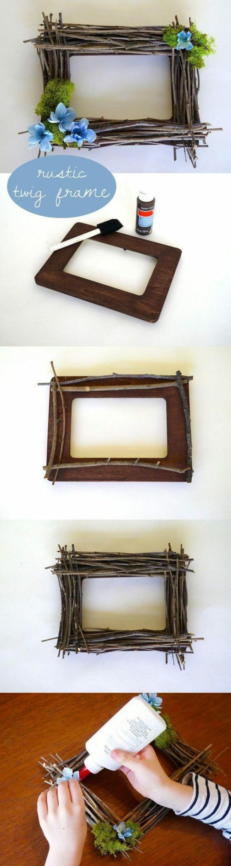 قاب آینه و قاب عکس ساخته شده از چوب و شاخه درختان