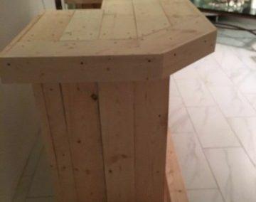 میز بار , میز L چوب روستیک , میز دست ساز