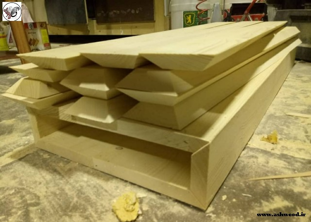 ساخت کف پله چوبی