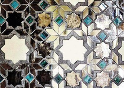معماری ایران در نقوش گره چینی با شیشه و اینه
