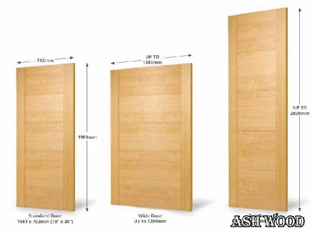 انواع درب چوبی سفارشی در سایز و شکل مختلف