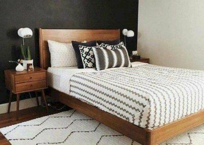 مدل تخت خواب چوبی , پاتختی تمام چوب , مدل سرویس خواب تمام چوب راش
