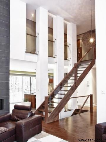مدل پله 2019 , ساخت پله سفارشی , نرده و هندریل چوبی