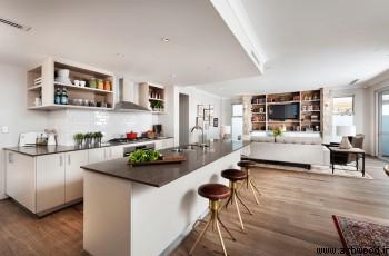 ادغام آشپزخانه با پذیرایی