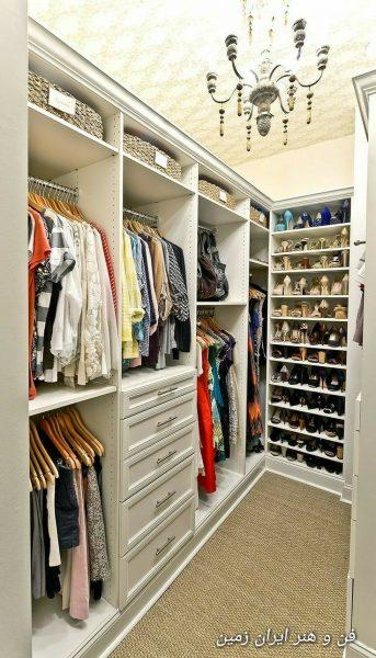 کمد لباس , کلوزت , کمد دیواری یا طراحی اتاق برای لباس هایتان , طراحی اتاق لباس و کمد های دیواری در منزل , کوراسیون اتاق لباس (کلوزت) دکوراسیون خانه