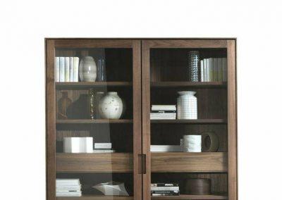 بوفه ویترین , کتابخانه چوبی لوکس سبک کلاسیک , قفسه بندی و کمد تمام چوب