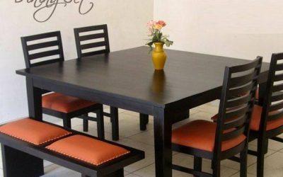 ایده های میز ناهارخوری با صندلی و نیمکت چوبی, میز ناهار خوری قیمت 2019