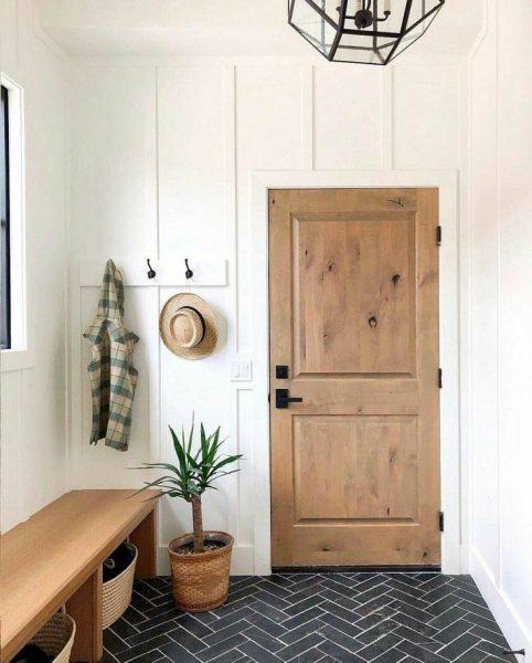 ساخت درب چوبی اتاقی , درب چوب کاج , درب دو قاب