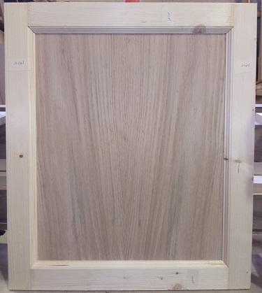 درب کابینت چوب کاج با قاب چوب بلوط , درب کابینت تمام چوب