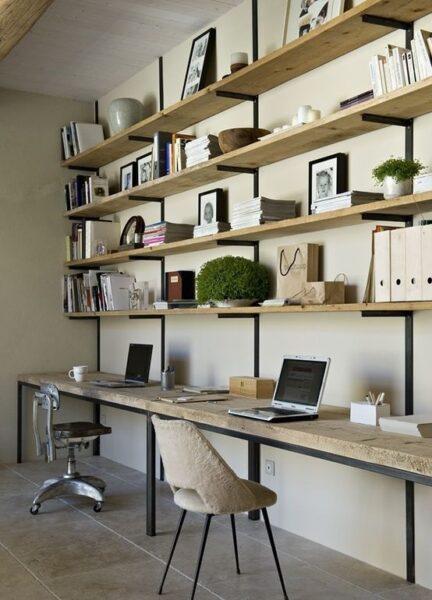 میز و شلف و قفسه بندی چوبی