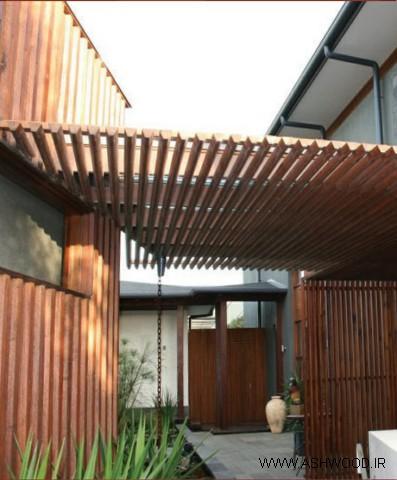 همه چیز درباره چوب روسی - خانه ساخته شده با الوار شعاعی در پوشش و سایبان
