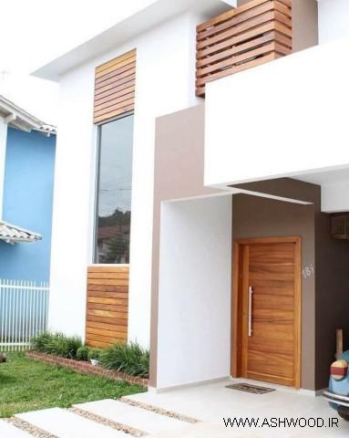 62 مدل درب ورودی الهام بخش در نمای ساختمان