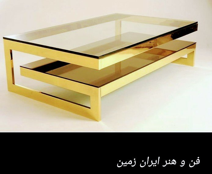 ایده میز اسلب، پایه استیل، چوب و فلز در دکوراسیون داخلی