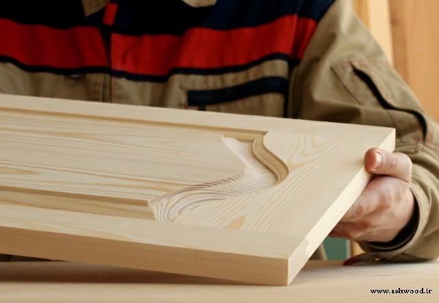 ساخت درب کابینت چوب کاج