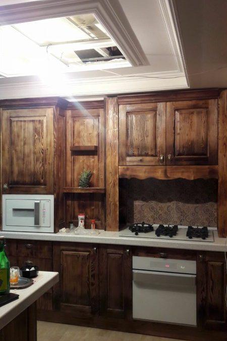 اجرا کابینت آشپزخانه تمام چوب , تهران سعادت آباد