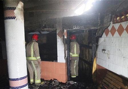 آتش سوزی در قسمت سونای خشک یک ساختمان مسکونی
