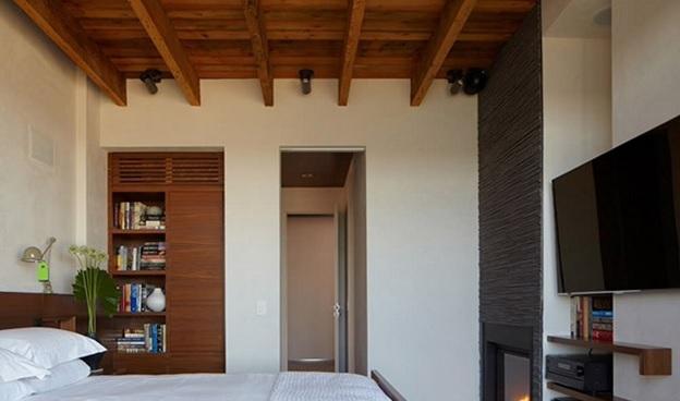 سقف چوبی اتاق خواب