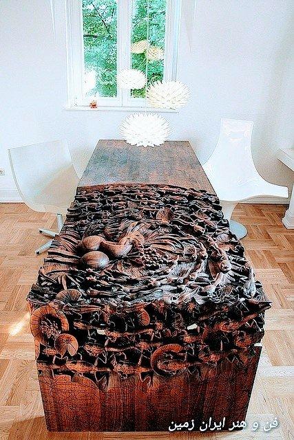 میز منبت، فروش میز اپوکسی، اسلب چوب گردو، ساخت میز اپوکسی، آموزش ساخت میز اپوکسی