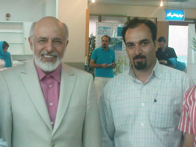 عکس دکتر آزمندیان و استاد حیدری