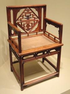 صندلی، چین، اواخر مینگ به سلسله چینگ، اواخر قرن 16-18 AD، چوب بلسان بنفش