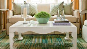 ایده و مدل جالب میز چوبی جلو مبلی و میز قهوه خوری
