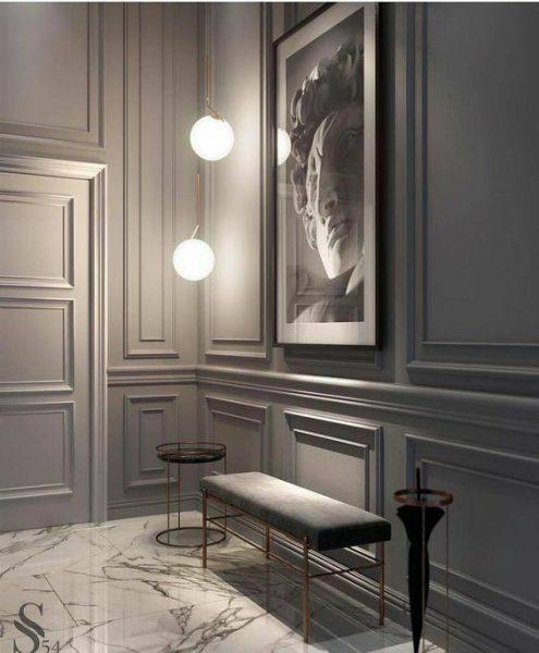 دیوارکوب سبک کلاسیک , درب اتاقی