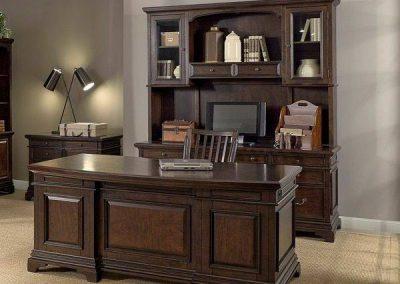 میز تحریر چوبی با کتابخانه , دکوراسیون چوبی داخلی