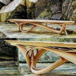 هنر چوب در دکوراسیون داخلی منزل , خمکاری