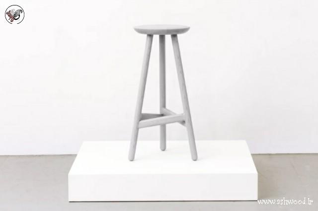 یک ایده صندلی اپن و میز بار از چوب بلوط 2019