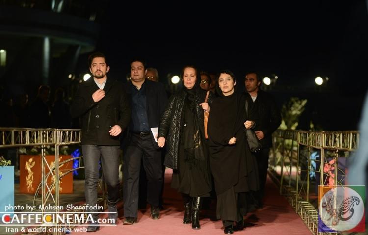 تصاویرداغ از هنرمندان و بازیگران در اختتامیه جشنواره فیلم فجر